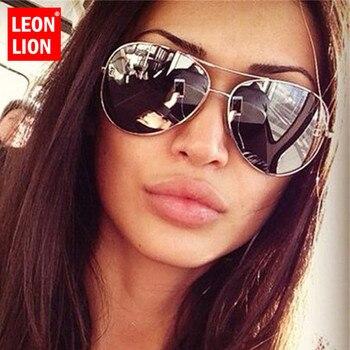 LeonLion Oversized Sunglasses Women Vintage Sunglasses Women Brand Designer Sun Glasses for Women/Men Retro Oculos De Sol Gafas