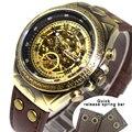 Mechanical Watch часы мужские механические часы стимпанк скелетоны с автоподзаводом наручные часы механизм винтажные кожаные прозрачные Automatic Watch ...