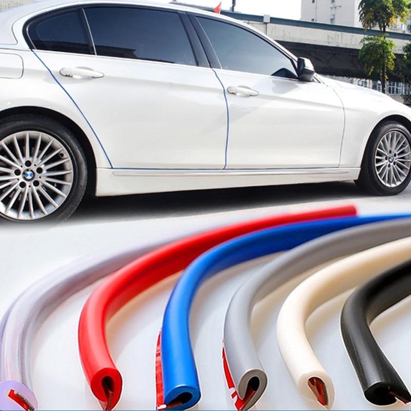 2.5m/5m/10m u tipo universal porta do carro borda guardas guarnição estilo moldando proteção tira protetor do risco para o veículo do carro