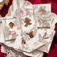 6 unids/lote Retro Kraft Feliz Navidad tarjetas de felicitación Año Nuevo regalos tarjetas 2020 Navidad Fiesta decoraciones postales Navidad