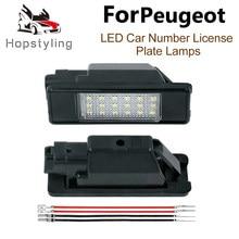 2 sztuk samochodów tylne 18 LED światło do tablicy rejestracyjnej lampa dla Peugeot 106 207 307 308 3008 406 407 508 607 806 807 ekspertów RCZ Coupe