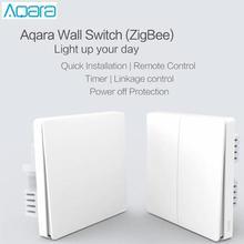Aqara Interruptor de Control de luz inteligente ZiGBee, enchufe de pared inalámbrico con wifi a través de teléfono inteligente, Control remoto para el hogar, funciona con la aplicación de hogar inteligente