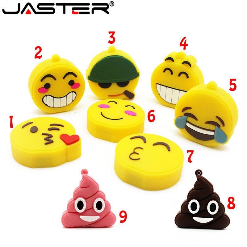 JASTER 64GB USB Stick 10 Model Smile Emotion Expression USB Flash Drive Pen Drive 4GB 8GB 16GB 32GB Usb2.0 Memory Stic