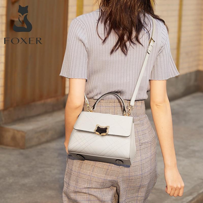 Foxer Any Women Flap Purse Split Leather