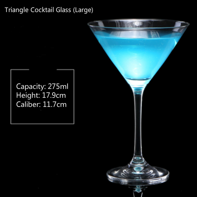 100-300ml 6 Styles Cocktail Glass Cup Wide Mouth Champagne Cup  Dish Cup Goblet Martini Glass Wine Glass Bar Household Drink