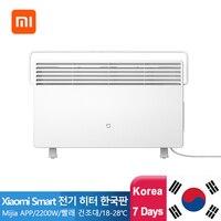 Xiaomi mijia aquecedor elétrico aquecedor quente a si mesmo 2200w aquecedores para casa quarto rápido convector lareira ventilador de parede mais quente silencioso