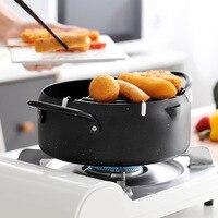 Olla para freír y freír platos y sartenes de acero inoxidable, olla para freír, Tempura, Control de temperatura