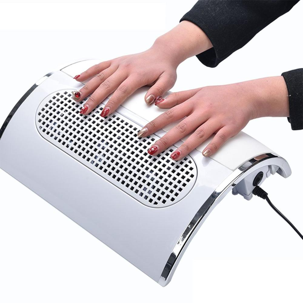 40W Portable Professional Nail Dust Suction Collector With Three Fan Nail Dust Vacuum Cleaner Manicure Tool with bags