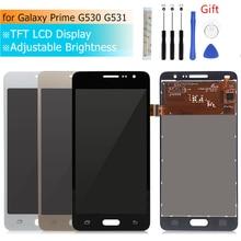 Per Samsung GALAXY Grand Prime g530 lcd a cristalli liquidi di trasporto Touch Screen digitizer Assembly G531f G531H G531FZ display Parti di Riparazione