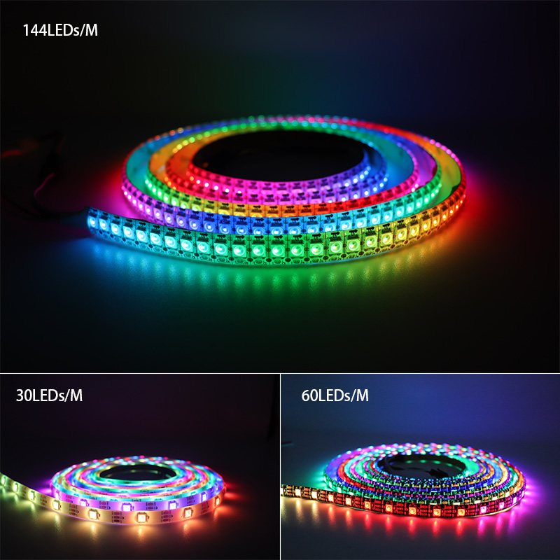 LED Strips WS2812B Ws2812 IC RGB Individually Addressable 5050 Led Strip Light Waterproof Diode Flexible Neon Led Tape Lamp DC5V