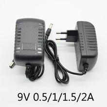 Pédale d'alimentation pour guitare électrique, 100-240V DC 9V 0,5a 1A 1,5a 2A, adaptateur de chargeur d'alimentation pour pièces de guitare