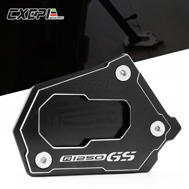 LOGO R1250GS For BMW R1250GS R1250 GS R1250GS R 1250GS HP 2018 Motorcycle CNC Side Stand Enlarge Extension Kickstand Accessories