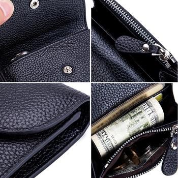 Genuine Leather Simple Wallet  4