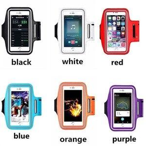 Image 5 - Fluorescência de moda Ao Ar Livre Confortável Suor Resistente À Prova D Água Esporte Arm Band Caso de Telefone Touchscreen Saco Corrida Ginásio