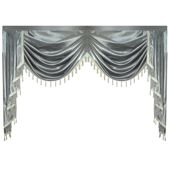 Valance Pure Grey Luxury Curtains for Living Room Window Swag Curtains for Bedroom for Kitchen new high quality embroidered luxury curtains window for living room bedroom kitchen tulle curtains valance drapes