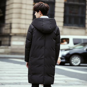 Image 4 - 2020 New Long Down Coat Men Coat Winter Down Jacket Warm Thicken Hooded Overcoat Comfortable Male Solid Color