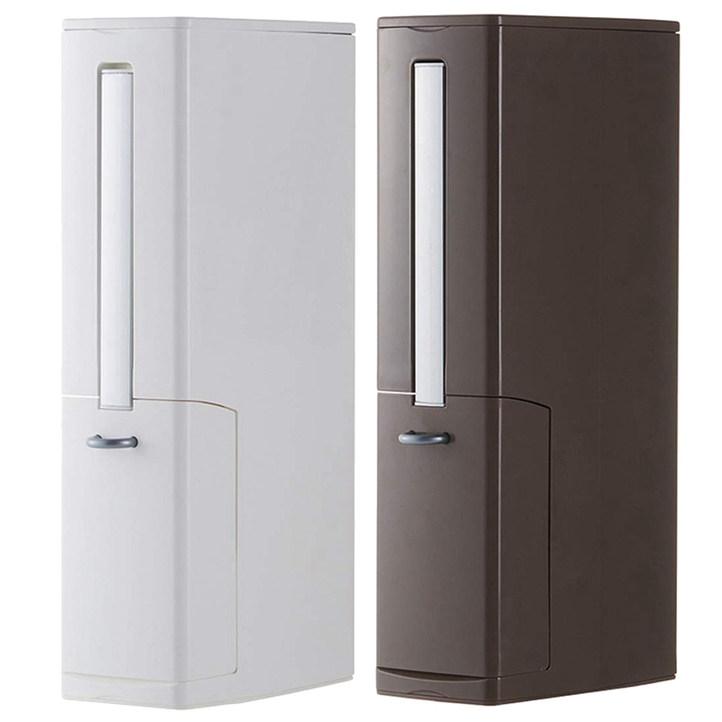 2 conjunto multi função escova de vaso sanitário conjuntos integrados com aleta lidar com forro lata de lixo casa casa de banho suprimentos caixa de armazenamento larga calib