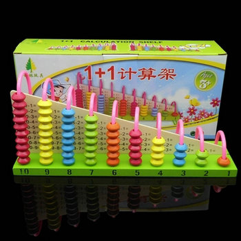цена на Free shipping abacus baby educational wooden toy 1+1 calculation Addition table children wood addition subtraction toy game gift