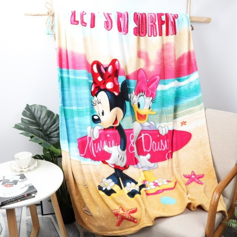Disney Black and White Dot Minnie Mouse Plush Blanket Throw 117x152cm Covering for Kids Girls Birthday Gift on Bed/Sofa/Plane(China)
