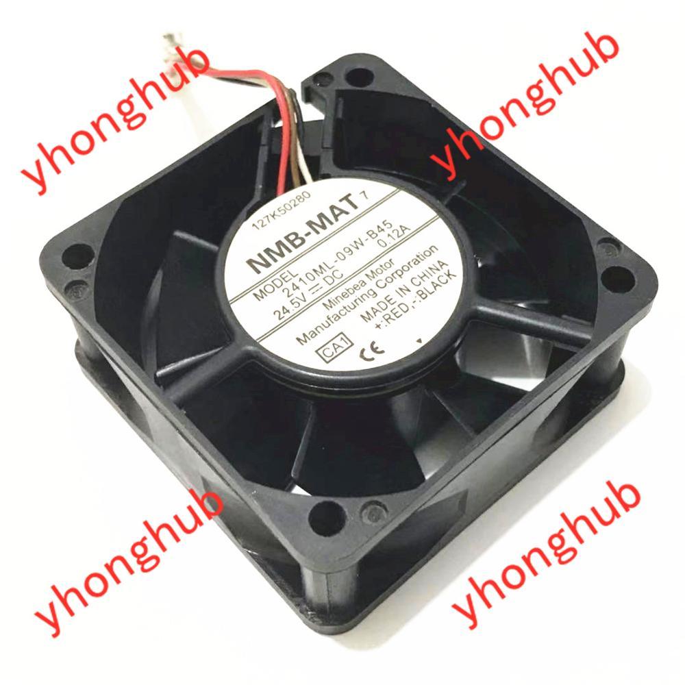 NMB MAT 2410ML 09W B45 CA1 CA2 DC 24.5V 0.12A 60x60x25mm Server Cooling Fan|square fan|server fan|dc fan - title=