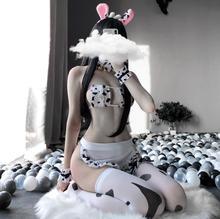 Cute Japanese Girl Sexy Tail Girlfriend Cow Maid Cosplay Sexy Costumes Bikini Swimsuit Anime Lingerie Lolita Bra and Panty Set