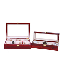 5 slots luxury fashion men home wooden watch box top quality watch storage box for men Watches 200802-61