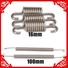 Exhaust Tuned Pipe Spring 100mm 16mm 1/5 1/8 1/10 RC Car Gas Petrol Nitro HSP Himoto HPI Traxxas Losi Axial Kyosho Redcat 550 35t 2 5s brushed motor parts for 1 10 rc car drift touring off road crawler redcat hsp hpi wltoys kyosho traxxas d110 hot
