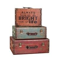 Vintage Artcrafts Retro Holz Box Koffer Dekoration Ornamente Shop Dekoration Requisiten Schreibtisch Display Figuren Kleinigkeiten Halter