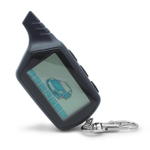 B6 2-way LCD Remote Control Key Fob Chain For Russian Vehicl