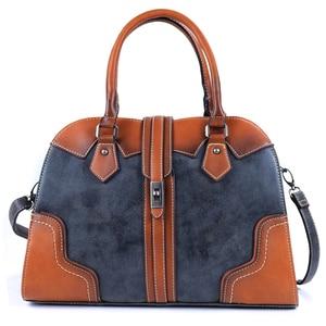 Image 1 - 2019 New Luxury Vintage Women Handbags Designer Brand Crossbody Bags Leather Women Shoulder Bag Laides Hand Bag Purse Tote