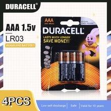 4 sztuk nowy oryginalny 1.5V DURACELL AAA LR03 bateria alkaliczna do elektrycznej szczoteczki do zębów zabawki latarka zdalnego sterowania suche komórki podstawowej