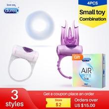 Durez anel vibratório de 3 estilos, estimulação do alargamento, atraso, clitóris, produtos íntimos para adultos, brinquedos sexuais eróticos para casais