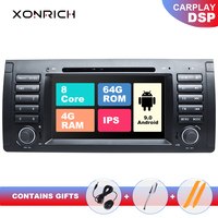 IPS DSP Qcta Core 1 din Android 9 Car Stereo DVD Player For BMW X5 E53 BMW E39 Multimedia GPS Navigation Audio Head Unit 4+64GB