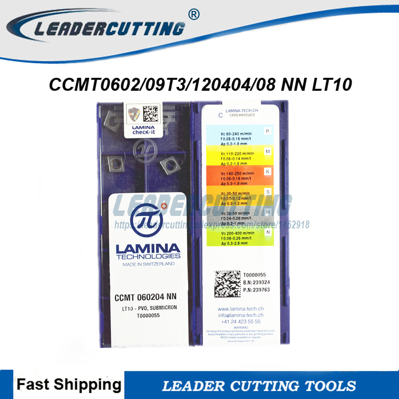 LAMINA DCMT070204-NN LT10 10pcs carbide inserts