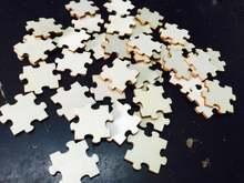 100 шт двусторонняя пустая деревянная мозаика пазл «сделай сам»