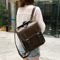 Mochila feminina do vintage saco de couro do plutônio mochila feminina moda saco de escola para meninas de alta qualidade lazer bolsa de ombro sac a dos