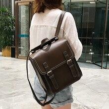 Vintage Backpack Female Pu Leather Bag Women's Backpack Fashion School Bag for Girls High Quality Leisure Shoulder Bag Sac A Dos