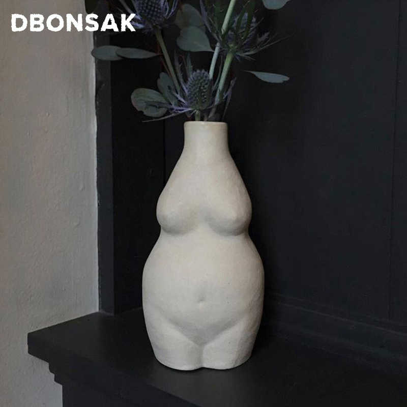 Ceramics Body Art Female Nude Manual Tabletop Ceramic Vase Abstract Vase Flower Pot Home Living Room Accessories Flower Vase Aliexpress