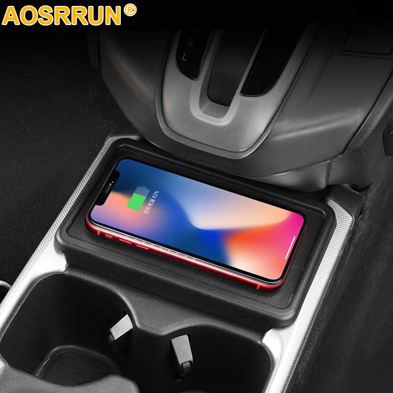 For Honda <font><b>CRV</b></font> <font><b>2018</b></font> CR-V 2017 2019 Car QI wireless charger 10W Fast Charger Car <font><b>Accessories</b></font> image