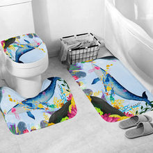 3pcs Non-slip Bath Mats Bathroom Kitchen Carpet Doormats Decor Bath Mat 3 Piece Bathroom Mat Sets Set Tappeti Bagno 2019(China)