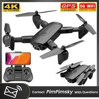F6 Klapp Neue RC Drone WiFi 4K Dual Kamera HD FPV Drohnen 5G GPS Unterstützt Flug Echt-zeit Übertragung 360 grad Umgedreht Eders