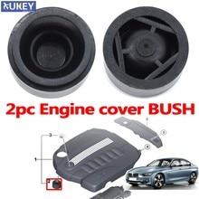2pc dla BMW 1 2 3 4 5 6 7 seria X1 X3 X4 X5 X6 E81 E87 F20 E90 F30 E60 F10 G30 E83 F25 G05 pokrywa silnika gumy montażowy do montażu na