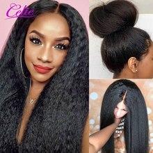 Perruque droite crépus Celie Lace Front perruques de cheveux humains pour les femmes noires pré plumées 360 perruque frontale dentelle sans colle perruques de cheveux humains
