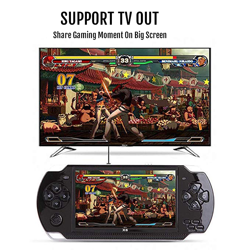 Image 4 - New Retro Game Console 4.3 inch In Built 8GB For PSP/MP4  Video/MP5/Camera/E book Portable Retro Game PlayerHandheld Game  Players