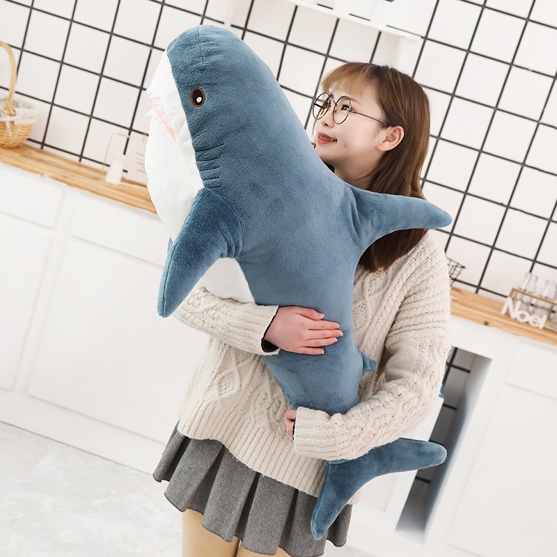 2019New 80/100/140cm Big Size Funny Soft Bite Shark Plush Toy Pillow Appease Cushion Gift For Children