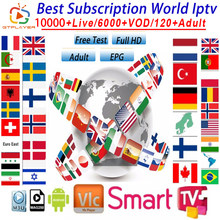 1 Year Europe US UK Brazil Poland spain IPTV subscription 7500+ Live HD IPTV M3u Enigma vod Sports adult Free test(China)