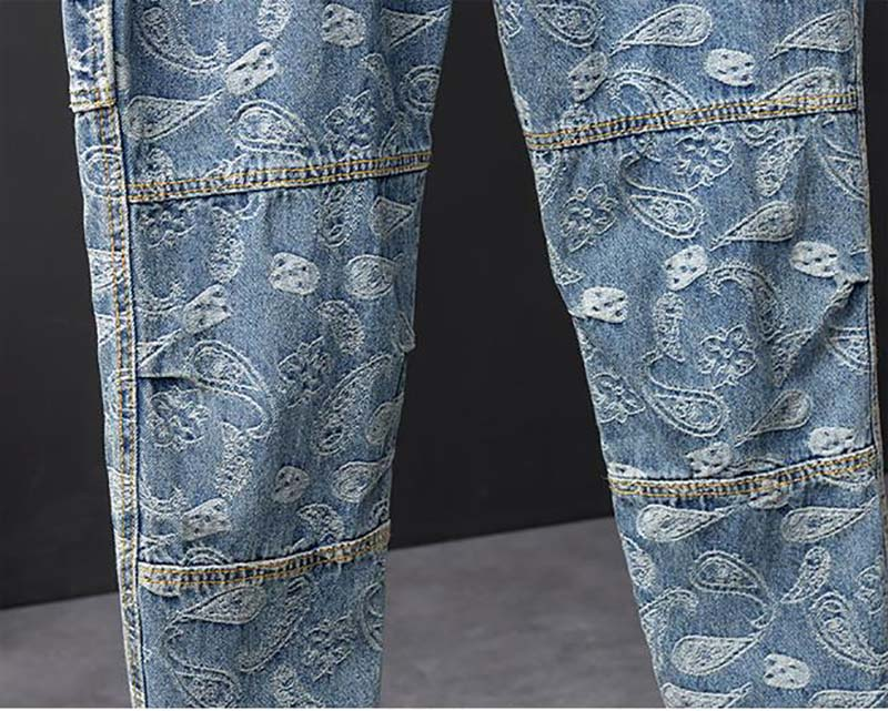 Mcikkny Men Hip Hop Printed Jeans Pants Fashion Loose Casual Denim Trousers Couples Streetwear Pants (4)