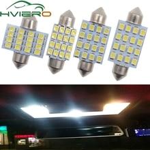 цена на 2PCS Festoon 3528 1210 white 16 SMD LED 16-smd Car Dome Festoon Interior Lights Bulbs 31mm 36mm 39mm 41mm Auto Roof Car Light
