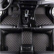 Tapetes de carro personalizado com 5 assentos, tapetes para carro para bmw 5 séries e39 e60 f10 g30 f90 grande turismo f07 5 turismo e39 e61 f11 g31 tapetes de carro