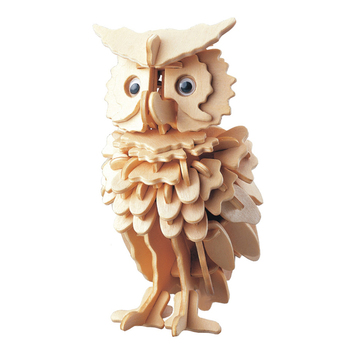 3D Wooden Owl Puzzle Jigsaw Woodcraft Kit DIY Construction Puzzle Toys for Children Wood Birthday Giftcraft Kids Kit Toy Model 3d dragon woodcraft construction kit diy dragon wooden puzzle game assembly toy gift for children adult children